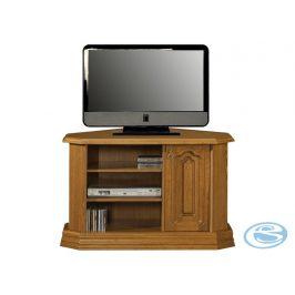 TV stolek rohový typ D Kinga masiv - PYKA Stolky pod TV