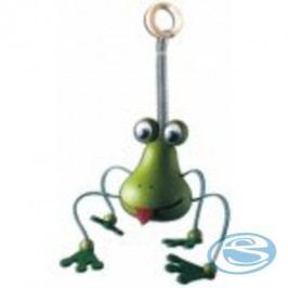 Dřevěná figurka na pružině žabka GD409 - Drewmax