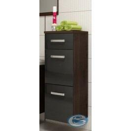 Koupelnová skříňka Evo wenge/černý lesk - FALCO