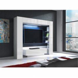 Obývací stěna Monterej bílá s LED osvětlením - TempoKondela