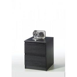 Noční stolek Naia 71069 černá struktura - TVI