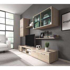 Obývací stěna Karolína sonoma+LED - FALCO