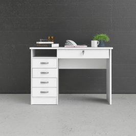 Bílý psací stůl Function Plus 80163 s uzamykatelnou zásuvkou - TVI