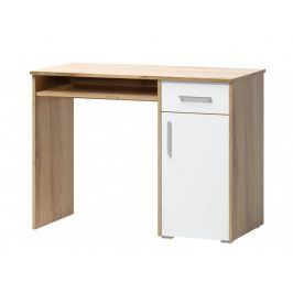 Psací stůl Arta 15 dub wotan/bílá - FALCO