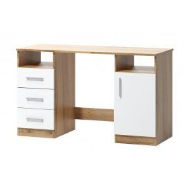 Psací stůl Arta 16 dub wotan/bílá - FALCO