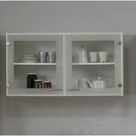 Kuchyňská prosklená skříňka Casa 45518 bílá - TVI