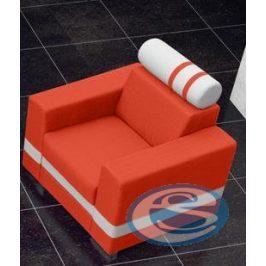 Křeslo R1 oranžovo-bílé - FALCO