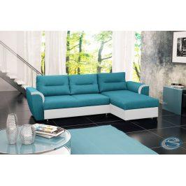 Rohová sedací souprava Tomek modro-bílá - FALCO
