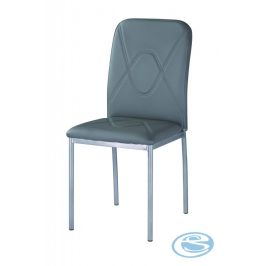 Jídelní čalouněná židle H-623 šedá/chrom - FALCO