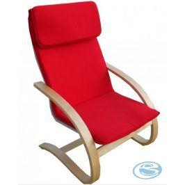Relaxační křeslo houpací Aly R03 červená - FALCO