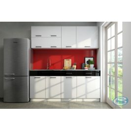 Kuchyňská linka Brigita 180/180 cm bílý vysoký lesk - FALCO