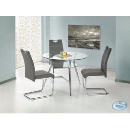 Kulatý jídelní stůl skleněný Becker - HALMAR