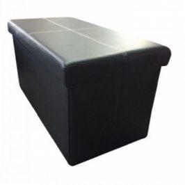Skládací lavice Imra černá ekokůže - TempoKondela Taburety do obýváku