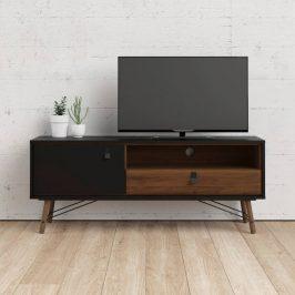 TV stolek RY 86007 černý mat/ořech - TVI