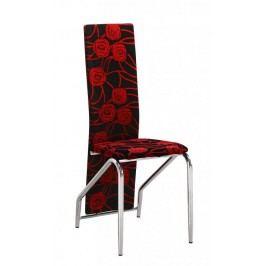 Jídelní židle H-66 červený květ - FALCO