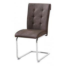 Židle Dakota imitace kůže hnědá - FALCO