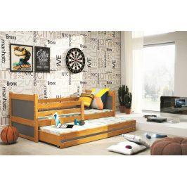 Dětská rozkládací postel Rico II 90x200 olše/grafit - BM