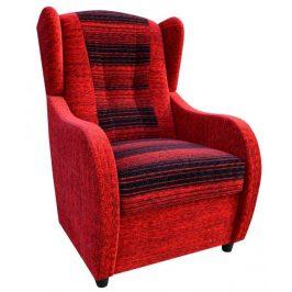 Křeslo ušák Relax červená - FALCO