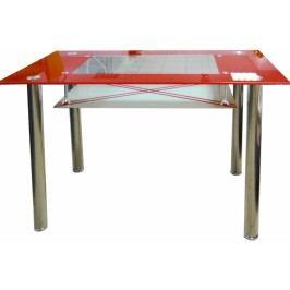 Jídelní stůl Cristal skleněný červený - FALCO
