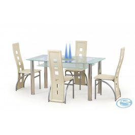 Skleněný jídelní stůl Cristal mléčný - HALMAR