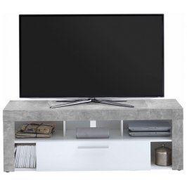 Vibio 1, beton/bílá Stolky pod TV