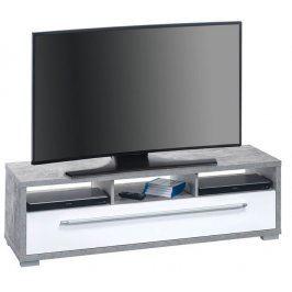 Glanz 7645, beton/bílý lesk Stolky pod TV