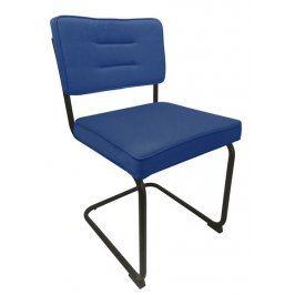 Salamon, modrá látka Židle do kuchyně