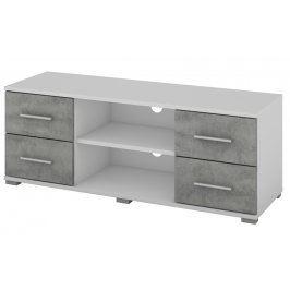 Oskar TV, bílý/beton, 120 cm