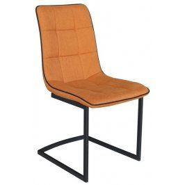 Ravenna, oranžová látka Židle do kuchyně