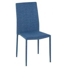 Doris, modrá látka Židle do kuchyně