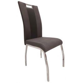 Bari 2, šedá látka/černá ekokůže Židle do kuchyně