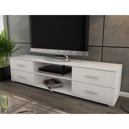 Oskar TV, bílý, šířka 180 cm Stolky pod TV