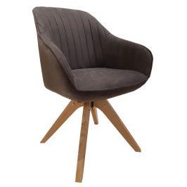 Viborg, šedá vintage látka Židle do kuchyně