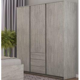 Carlos, šedý beton, 152 cm