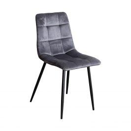 Jídelní židle BERGEN šedý samet