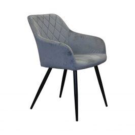 Jídelní židle DIAMANT šedý samet