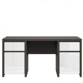 Psací stůl Kaspian KA_BIU2D2S/160 Black Red White