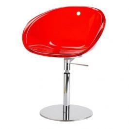 Pedrali Červená plastová otočná židle Gliss 951 Židle do kuchyně