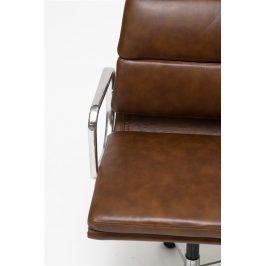 Culty Hnědá kožená kancelářská židle Soft Pad 217