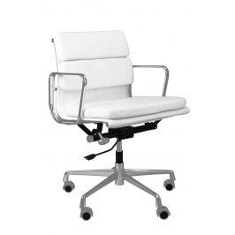 Culty Bílá kožená kancelářská židle Soft Pad 217