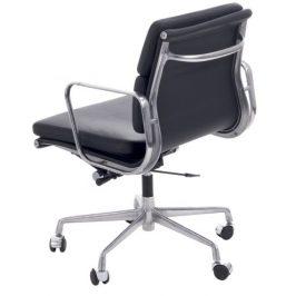 Culty Černá kožená kancelářská židle Soft Pad 217