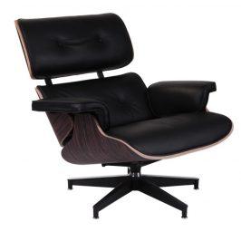 Culty Kožené křeslo v ebenovém provedení Lounge chair