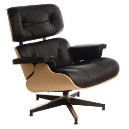 Culty Kožené křeslo v dubovém provedení Lounge chair