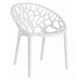 Culty Designová židle Crystal, bílá/vysoký lesk Židle do kuchyně