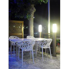 Culty Designová židle Crystal, bílá/vysoký lesk