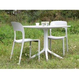 Culty Bílá plastová jídelní židle Lexi