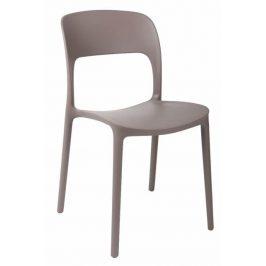 Culty Plastová jídelní židle Lexi v barvě cappucino