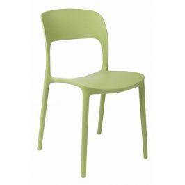 Culty Zelená plastová jídelní židle Lexi