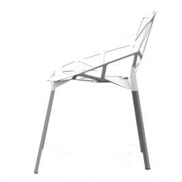 Culty Designová bílá kovová židle One Chair
