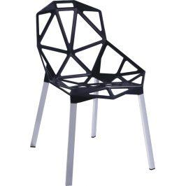 Culty Designová černá kovová židle One Chair Židle do kuchyně
